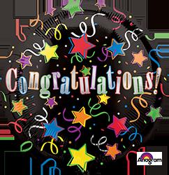 Congratulations Mylar 22011