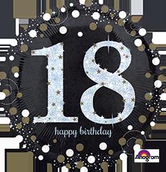 18 th Sparkling Birthday Mylar Balloon