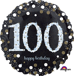 100 th Sparkling Birthday Mylar Balloon