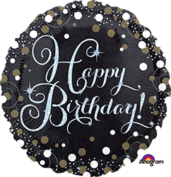 "18"" Sparkling happy Birthday mylar 34062"