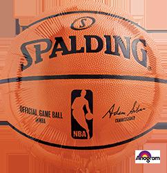 113754 Spalding Basketball Mylar Balloon