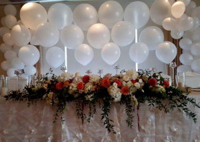White Organic Wedding Table Backdrop