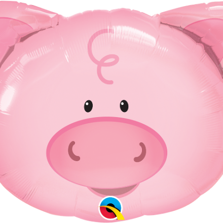 Playful Pig Mylar Balloon
