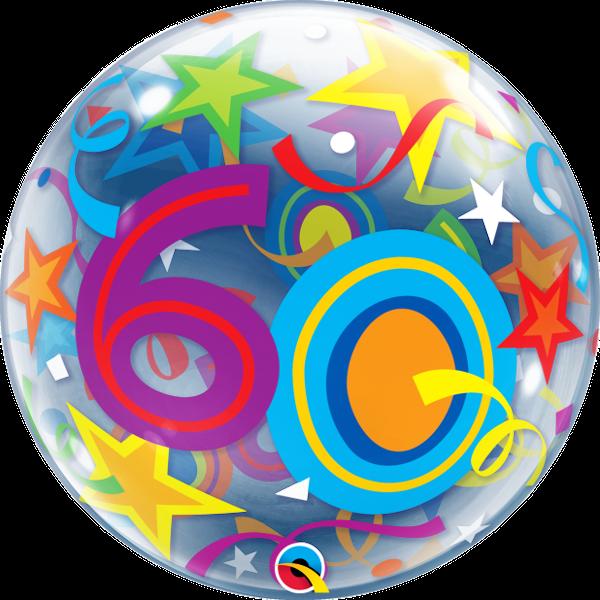 60th Brilliant Stars Bubble Balloon