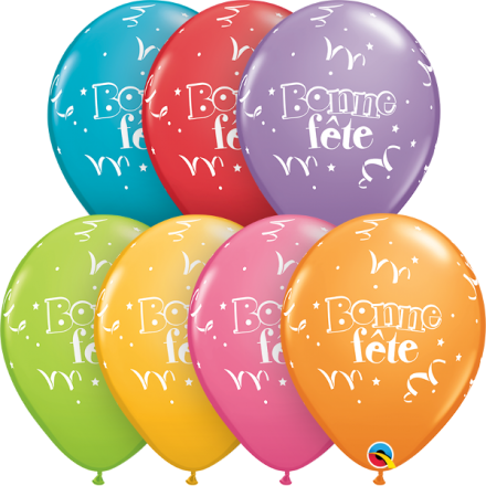 25729 Bonne Fête - Serpentins latex balloon