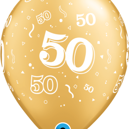 37107 #50 gold latex balloon