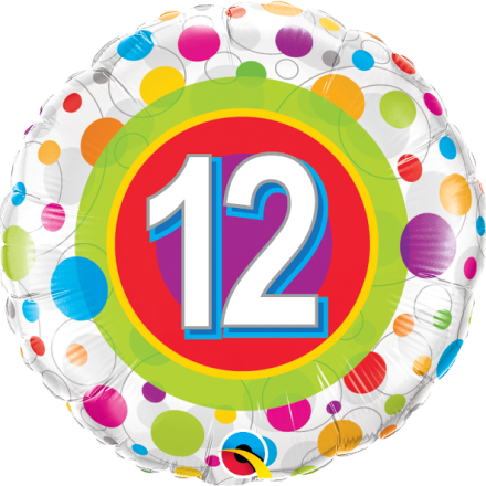 #12 Colorful Dots Mylar Balloon