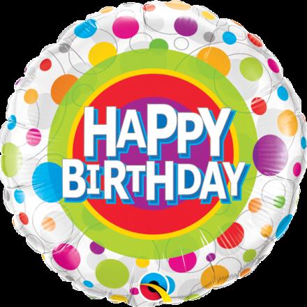 41136 Happy Birthday Colorful Dots mylar balloon