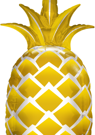 Golden Pineapple Mylar Balloon