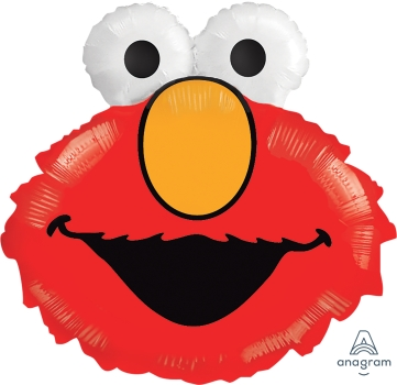 "02500 Elmo Head 20"" x 18"" Mylar Balloon"