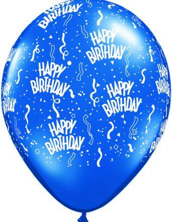 12341 Blue Birthday A Round latex balloon