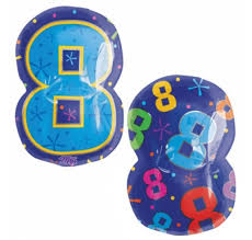 #8 Jr. Shape Mylar Balloon