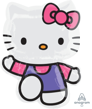 "Hello Kitty Pink & Purple 30"" x 22"" Mylar Balloon"