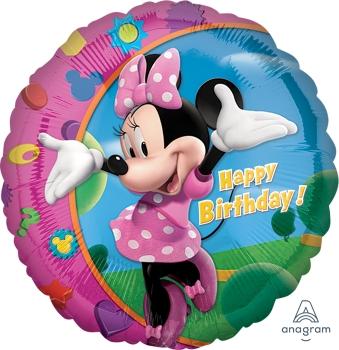 "17797 Minnie Happy Birthday 18"" Mylar Balloon"