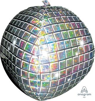 "18031 Disco Ball 15"" x 15"" Mylar Balloon"