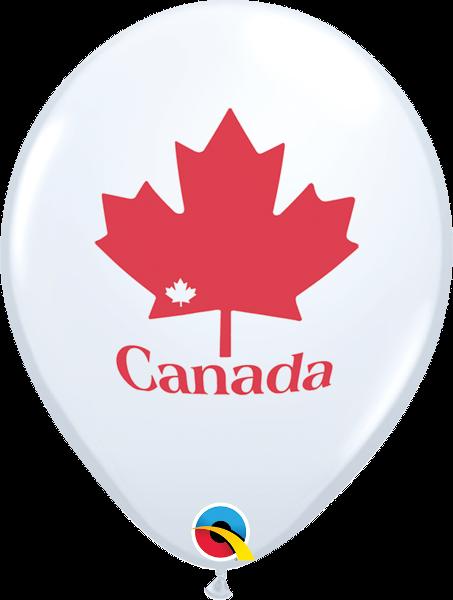 20256 Patriotic Maple Leaf latex balloon