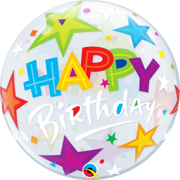 23595 Birthday Brilliant Stars Bubble