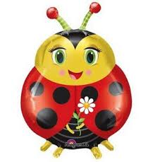 "Lady Bug 27"" x 20"" Mylar Balloon"
