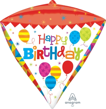 Geometric Birthday-Diamondz Balloon