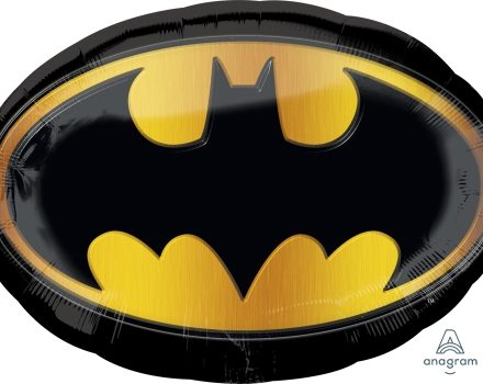"29657 Batman Emblem 27"" x 19"" Mylar Balloon"