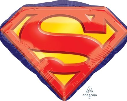 "Superman Emblem 26"" x 20"" Mylar Balloon"