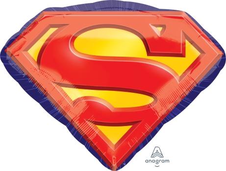 """Superman Emblem 26"""" x 20"""" Mylar Balloon"""