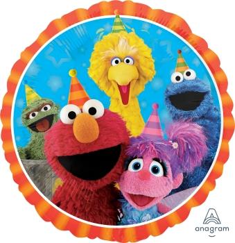 "34394 Sesame Street Fun 18"" Mylar Balloon"