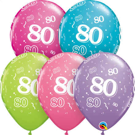 46706 #80 trendy assortment latex balloon