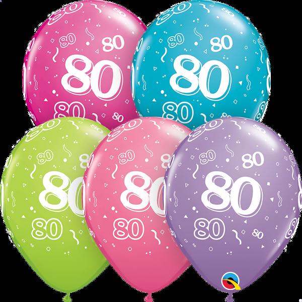 46706 #80 trendy assortment latex balloon
