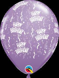 49607 Lilac Birthday A Round latex balloon