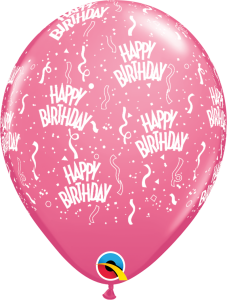 49607 Rose Birthday A Round latex balloon