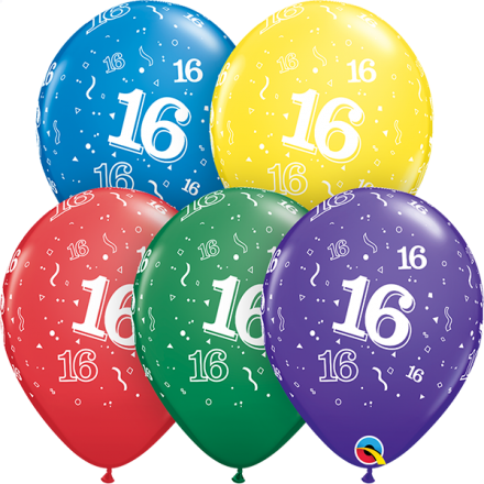 53905 #16 std assortment latex balloon