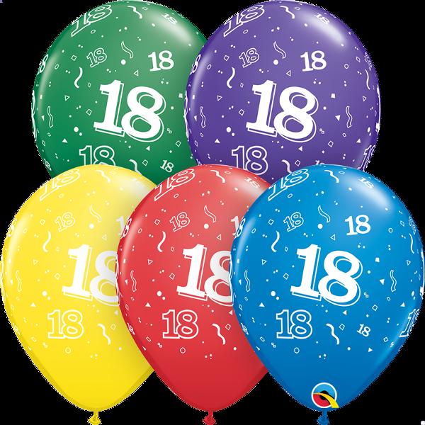 53907 #18 std assortment latex balloon
