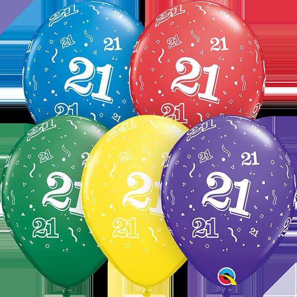 53908 #21 std assortment latex balloon