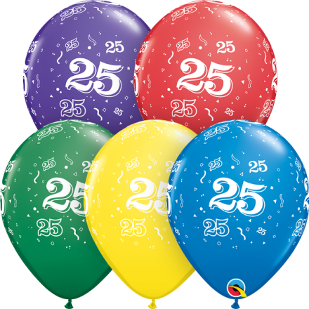 53910 #25 std assortment latex balloon
