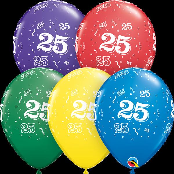 53910 #25 std assortment latex balloon