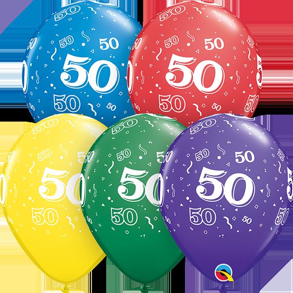 53923 #50 std assortment latex balloon