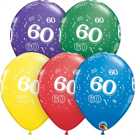 53925 #60 std assortment latex balloon