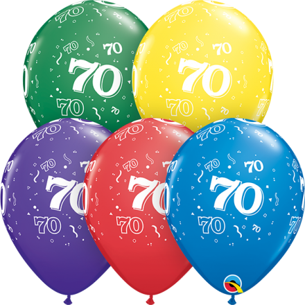 53930 #70 std assortment latex balloon