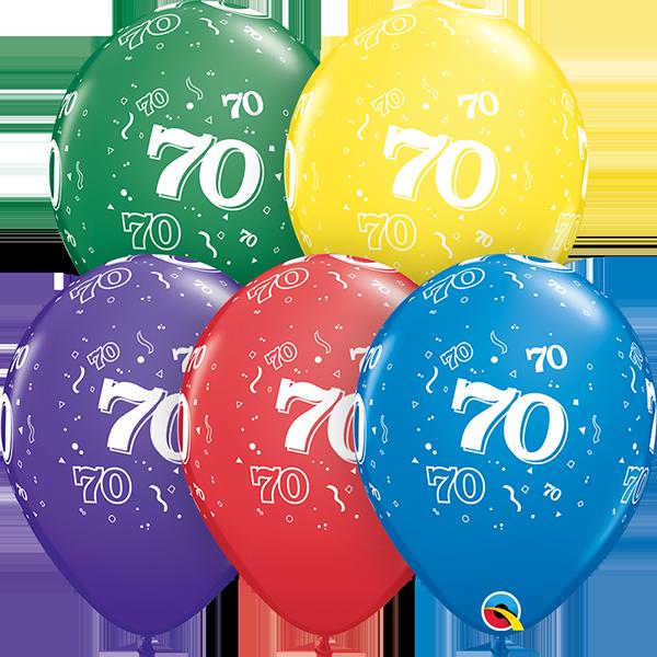 53930 #70 std assortment latex balloon