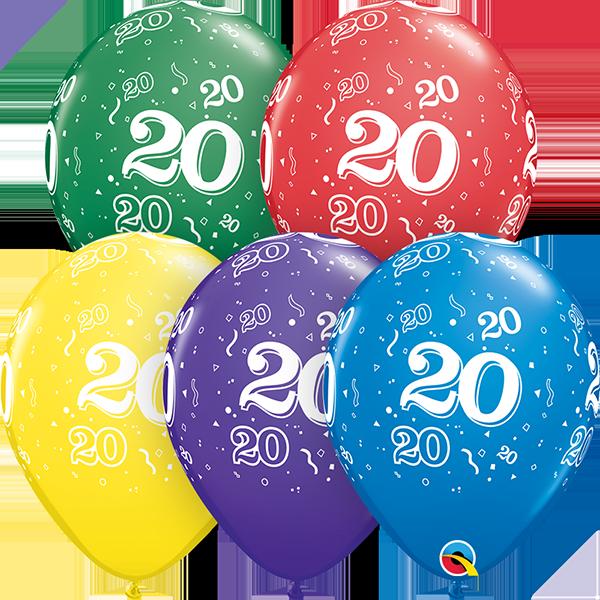 53978 #20 std assortment latex balloon