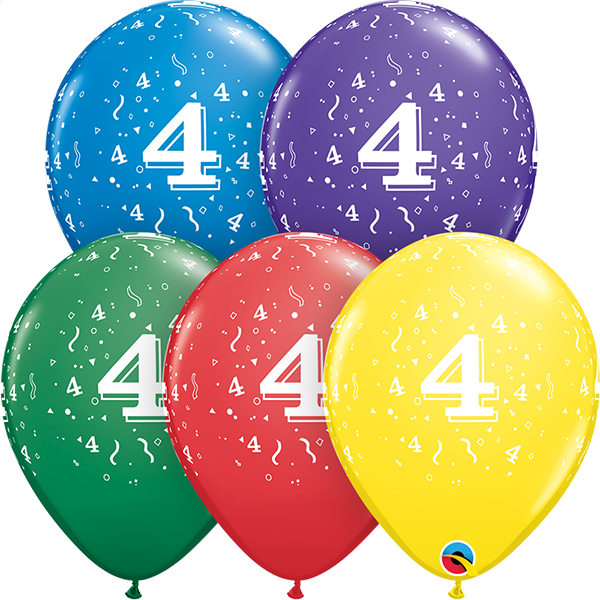 53988 #4 std assortment latex balloon