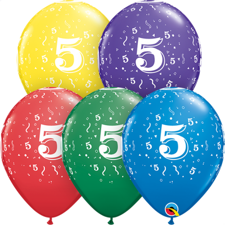 53990 #5 std assortment latex balloon
