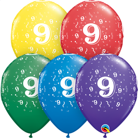 54018 #9 std assortment latex balloon