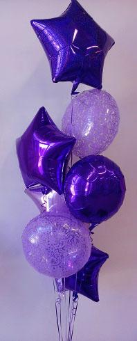 purple cluster mylar