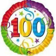 100 th Birthday Mylar Balloon
