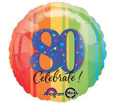 80 th Birthday Mylar Balloon