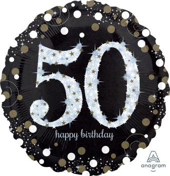 "50 th Sparkling Birthday 28"" Mylar Balloon"