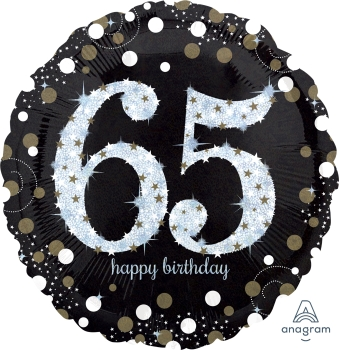 "65 th Sparkling Birthday 28"" Mylar Birthday"