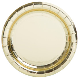 "Gold 7"" Paper Plate 8 pk"